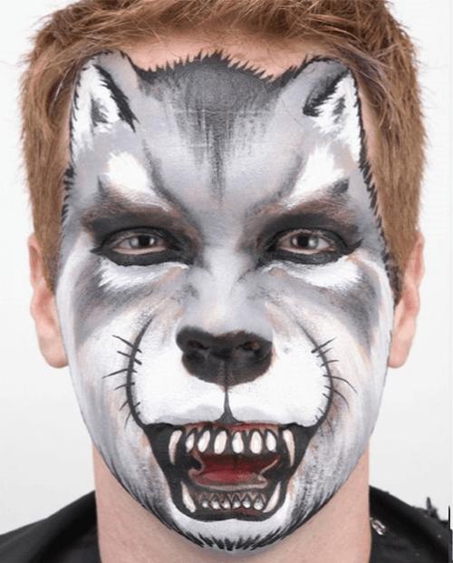 Cara de lobo maquillaje