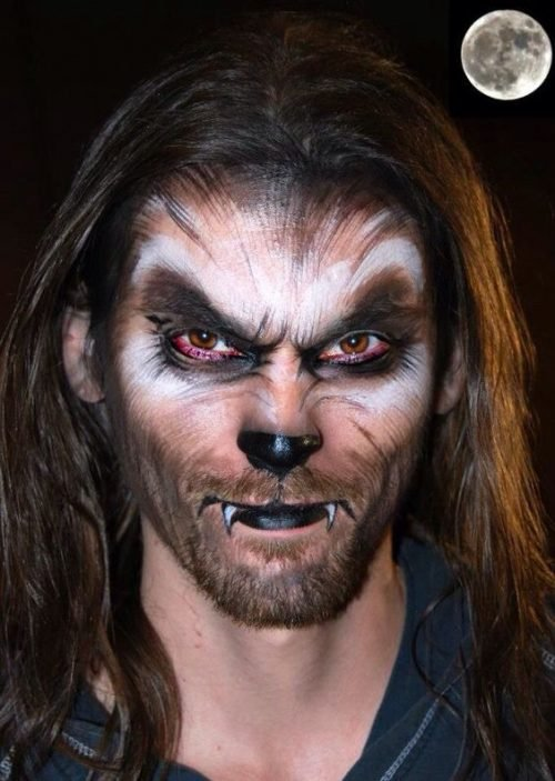 Maquillaje de Lobo feroz Lycan