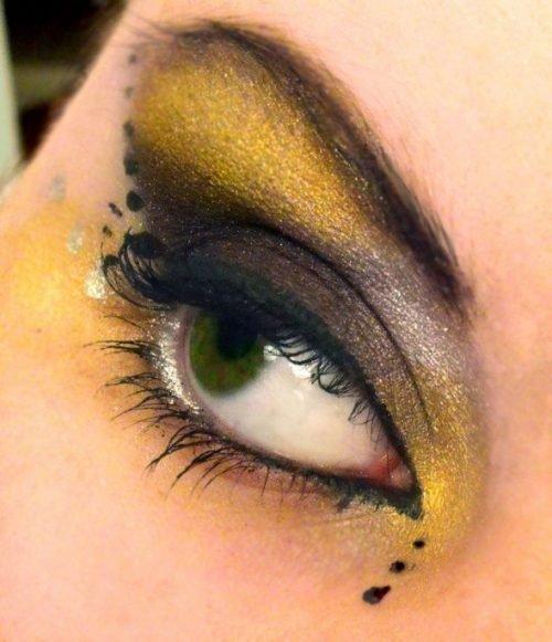 Maquillaje de abeja Sombras
