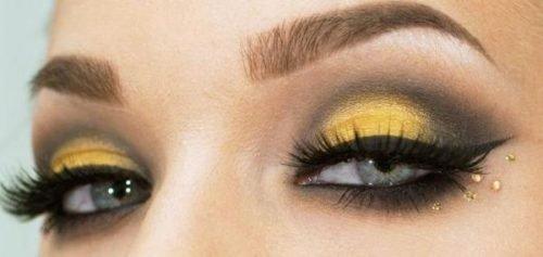 Maquillaje de abeja en ojos elegante