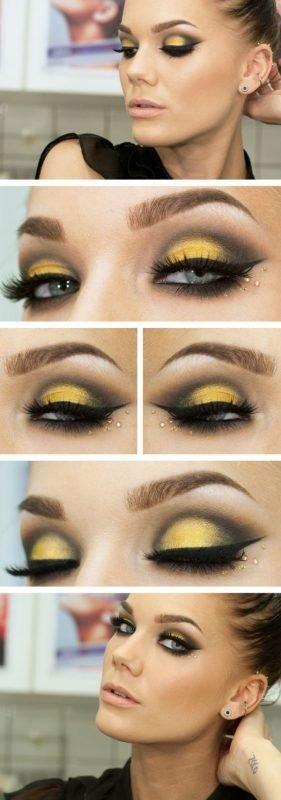 Maquillaje de abeja ojos
