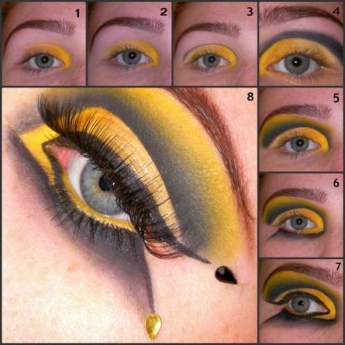 Maquillaje de abeja pasos