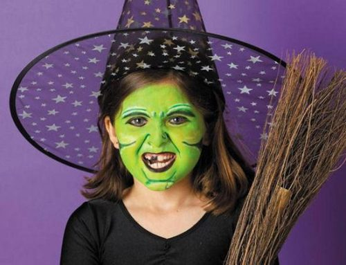 Maquillaje de bruja niña muy elaborado