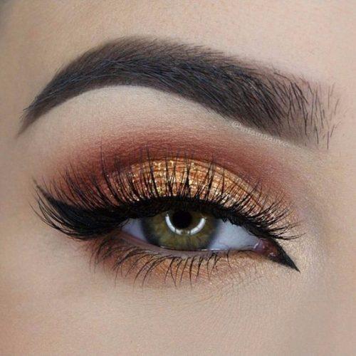 ojos ahumados naranja