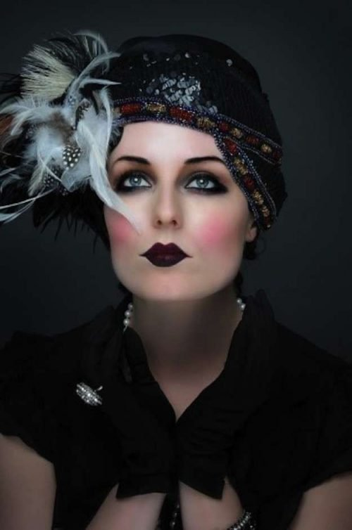 maquillajes años 20 de moda