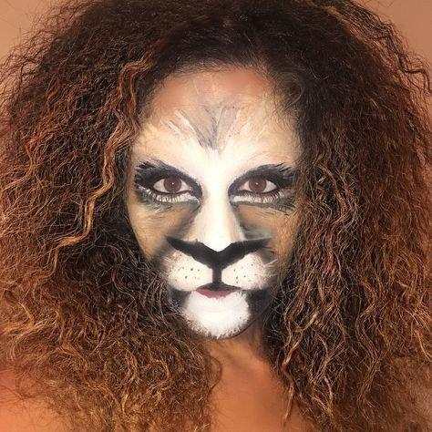 Maquillaje de león 9