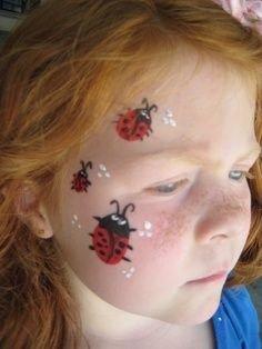 Maquillaje de mariquita 1