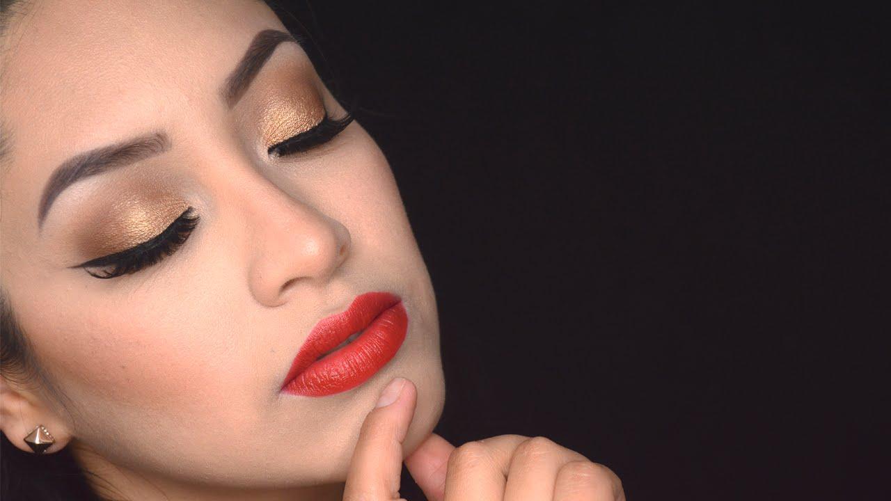 Maquillaje labios rojos 2
