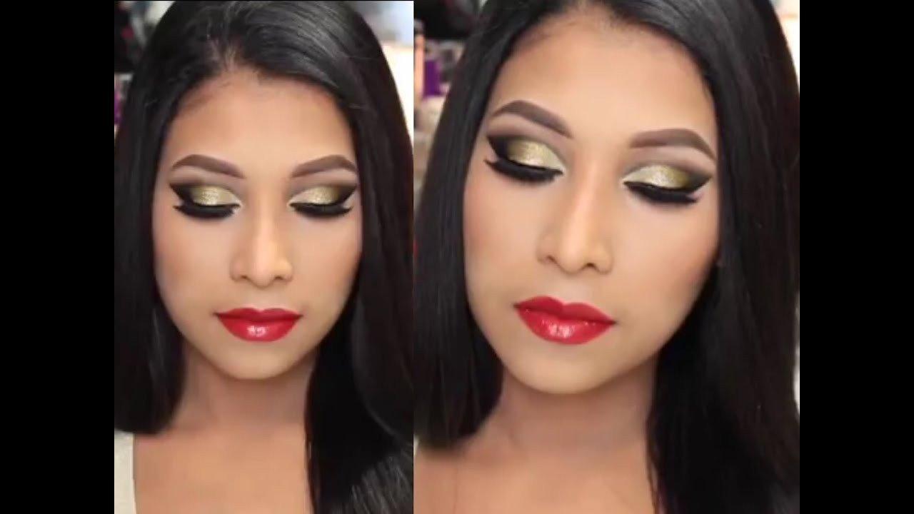 Maquillaje labios rojos 6