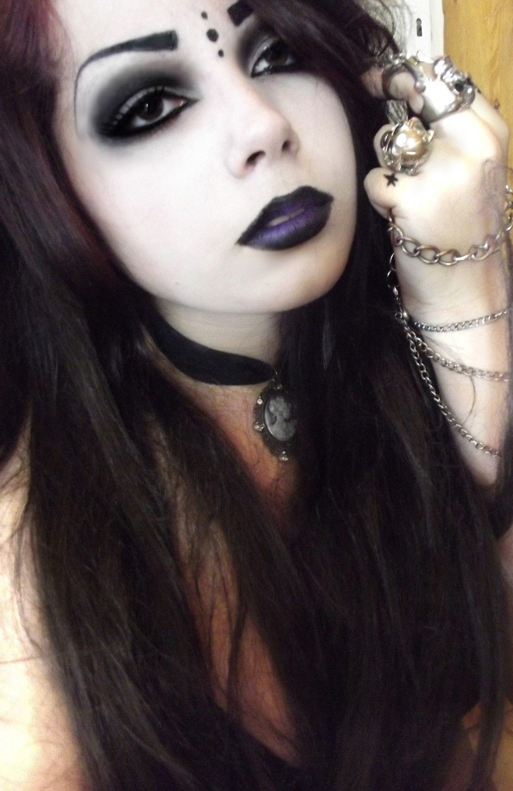 maquillaje gotico 2