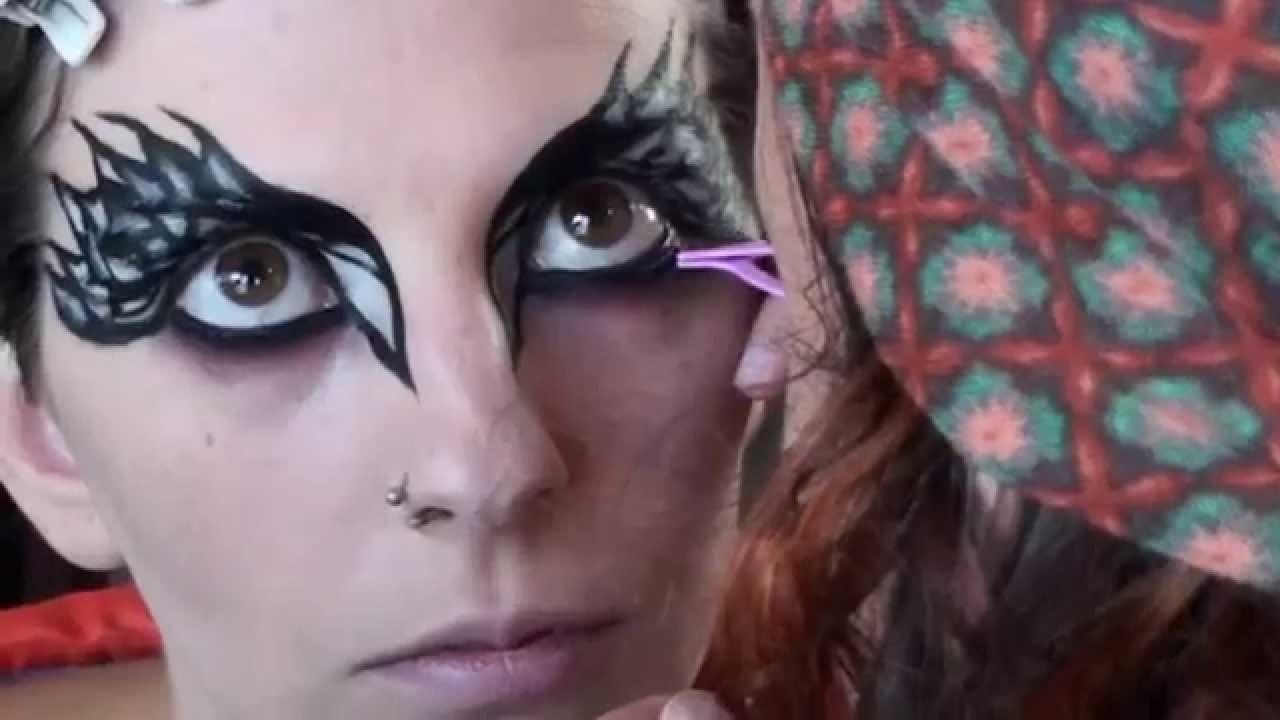 Maquillaje cisne negro 6